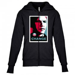 alpha obama Youth Zipper Hoodie | Artistshot