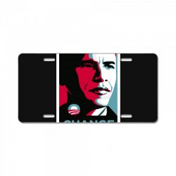 alpha obama License Plate | Artistshot