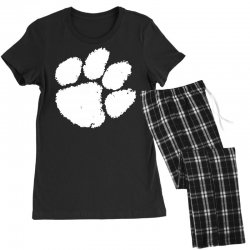 clemson tigers foot print Women's Pajamas Set | Artistshot