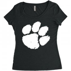 clemson tigers foot print Women's Triblend Scoop T-shirt | Artistshot