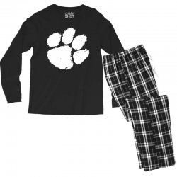 clemson tigers foot print Men's Long Sleeve Pajama Set | Artistshot