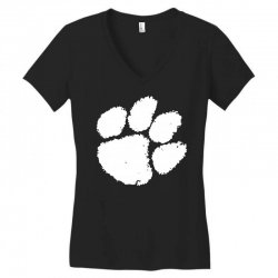 clemson tigers foot print Women's V-Neck T-Shirt | Artistshot