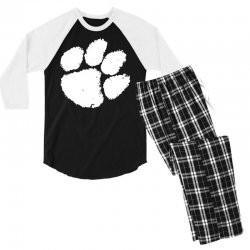 clemson tigers foot print Men's 3/4 Sleeve Pajama Set | Artistshot