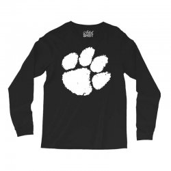 clemson tigers foot print Long Sleeve Shirts | Artistshot
