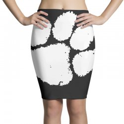 clemson tigers foot print Pencil Skirts | Artistshot