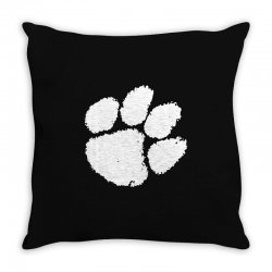 clemson tigers foot print Throw Pillow | Artistshot