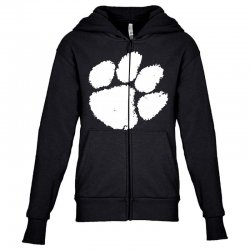 clemson tigers foot print Youth Zipper Hoodie | Artistshot