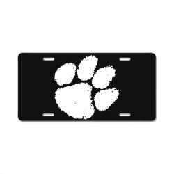 clemson tigers foot print License Plate | Artistshot