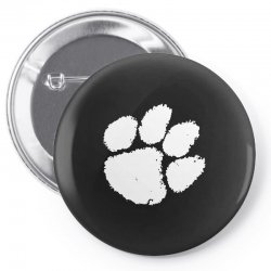 clemson tigers foot print Pin-back button | Artistshot