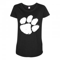 clemson tigers foot print Maternity Scoop Neck T-shirt | Artistshot