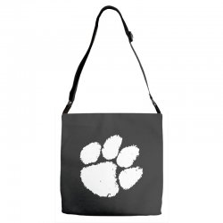 clemson tigers foot print Adjustable Strap Totes | Artistshot