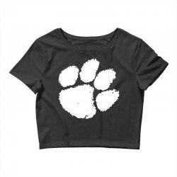 clemson tigers foot print Crop Top | Artistshot