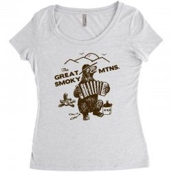 great smoky mountains t shirt national park shirt smokey the bear shir Women's Triblend Scoop T-shirt | Artistshot