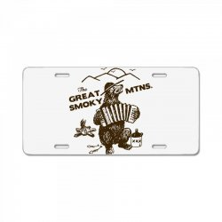 great smoky mountains t shirt national park shirt smokey the bear shir License Plate | Artistshot