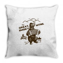 great smoky mountains t shirt national park shirt smokey the bear shir Throw Pillow | Artistshot