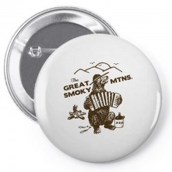 great smoky mountains t shirt national park shirt smokey the bear shir Pin-back button | Artistshot