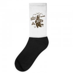 great smoky mountains t shirt national park shirt smokey the bear shir Socks | Artistshot