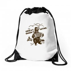 great smoky mountains t shirt national park shirt smokey the bear shir Drawstring Bags | Artistshot