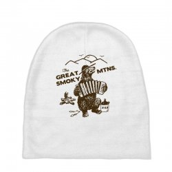 great smoky mountains t shirt national park shirt smokey the bear shir Baby Beanies | Artistshot