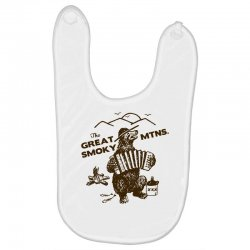 great smoky mountains t shirt national park shirt smokey the bear shir Baby Bibs | Artistshot