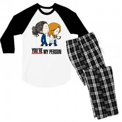 grey's anatomy you're my person Men's 3/4 Sleeve Pajama Set | Artistshot