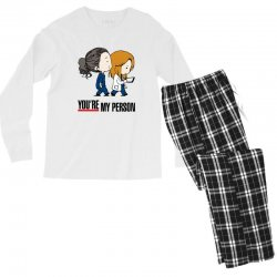grey's anatomy you're my person Men's Long Sleeve Pajama Set | Artistshot