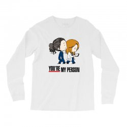 grey's anatomy you're my person Long Sleeve Shirts | Artistshot