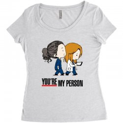 grey's anatomy you're my person Women's Triblend Scoop T-shirt | Artistshot
