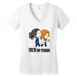 grey's anatomy you're my person Women's V-Neck T-Shirt | Artistshot