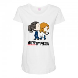 grey's anatomy you're my person Maternity Scoop Neck T-shirt | Artistshot