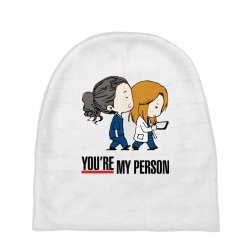 grey's anatomy you're my person Baby Beanies | Artistshot