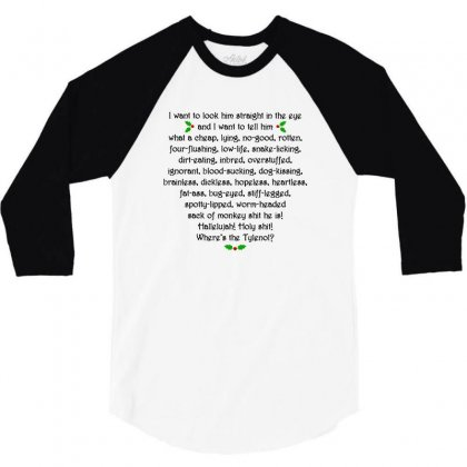 Griswold Rant 3/4 Sleeve Shirt Designed By Tee Shop