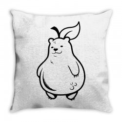 grizzly pear Throw Pillow | Artistshot