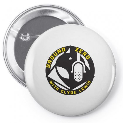 Ground Zero With Clyde Lewis Pin-back Button Designed By Tee Shop