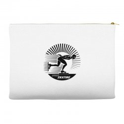 grunge speed ice skating lovers Accessory Pouches | Artistshot