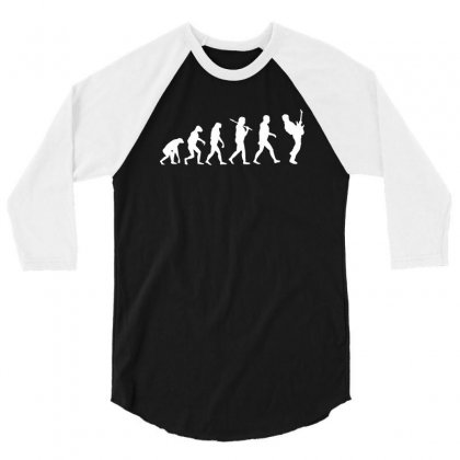Guitar Player Evolution Funny 3/4 Sleeve Shirt Designed By Tee Shop