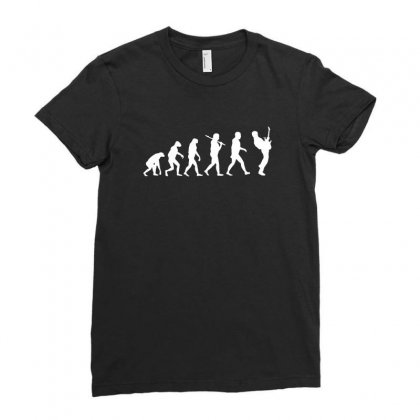 Guitar Player Evolution Funny Ladies Fitted T-shirt Designed By Tee Shop