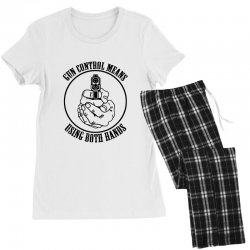 gun control means using both hands t shirt bear arms t shirt Women's Pajamas Set | Artistshot