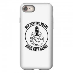 gun control means using both hands t shirt bear arms t shirt iPhone 8 Case | Artistshot