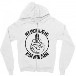 gun control means using both hands t shirt bear arms t shirt Zipper Hoodie | Artistshot