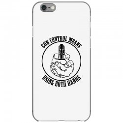 gun control means using both hands t shirt bear arms t shirt iPhone 6/6s Case | Artistshot