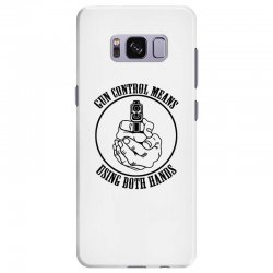 gun control means using both hands t shirt bear arms t shirt Samsung Galaxy S8 Plus Case | Artistshot