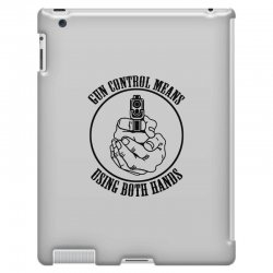 gun control means using both hands t shirt bear arms t shirt iPad 3 and 4 Case | Artistshot
