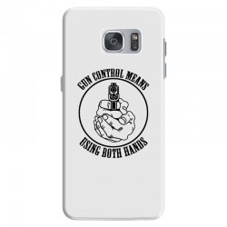 gun control means using both hands t shirt bear arms t shirt Samsung Galaxy S7 Case | Artistshot