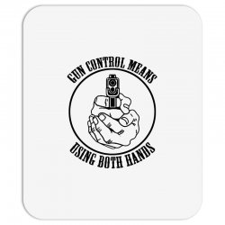 gun control means using both hands t shirt bear arms t shirt Mousepad | Artistshot