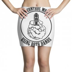 gun control means using both hands t shirt bear arms t shirt Mini Skirts | Artistshot