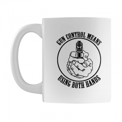 gun control means using both hands t shirt bear arms t shirt Mug | Artistshot
