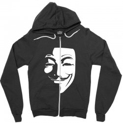guy fawkes anonymous mask 2019 Zipper Hoodie | Artistshot