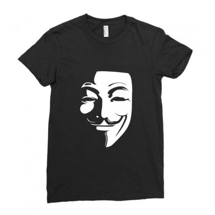 Guy Fawkes Anonymous Mask 2019 Ladies Fitted T-shirt Designed By Tee Shop