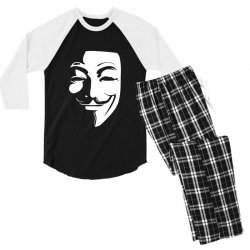 guy fawkes anonymous mask 2019 Men's 3/4 Sleeve Pajama Set | Artistshot